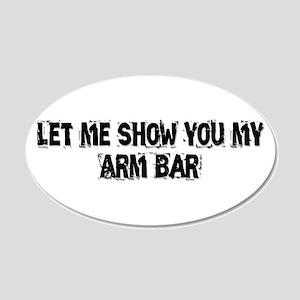 Arm Bar 22x14 Oval Wall Peel