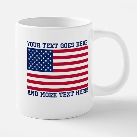 Personalized Patriotic Amer 20 oz Ceramic Mega Mug