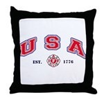 USA Firefighter Throw Pillow