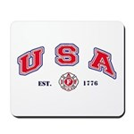 USA Firefighter Mousepad