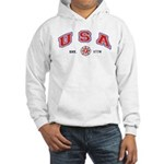 USA Firefighter Hooded Sweatshirt