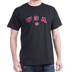 USA Firefighter Black T-Shirt