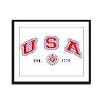 USA Firefighter Framed Panel Print