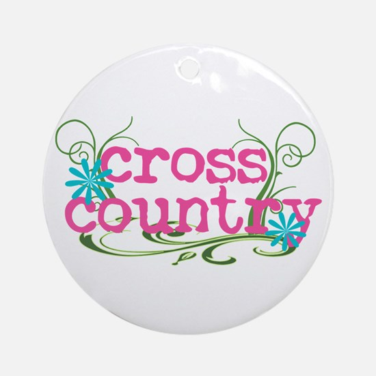 Cross Country Pink Ornament (Round)
