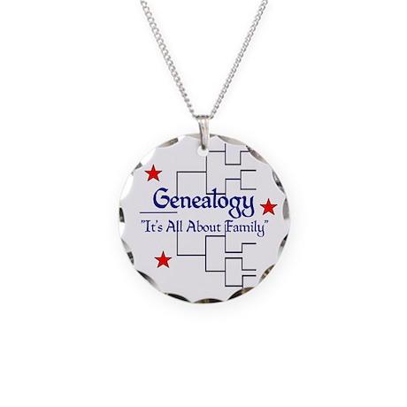 Genealogy Necklace Circle Charm