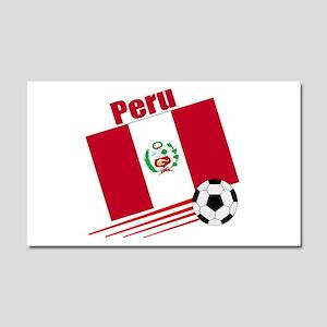 Peru soccer team Car Magnet 20 x 12