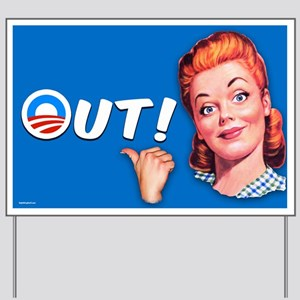 Out! Yard Sign