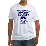 National Apathy Society Fitted T-Shirt