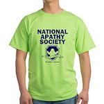 National Apathy Society Green T-Shirt