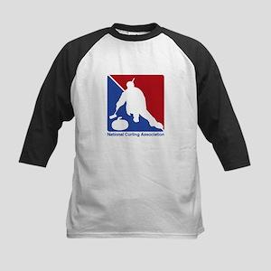 National Curling Association Kids Baseball Jersey