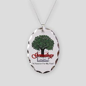 Genealogy Necklace Oval Charm