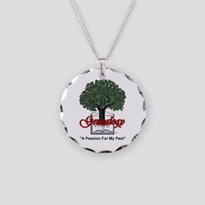 Genealogy Necklace Circle Charm