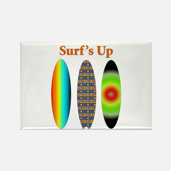 Surf's Up Rectangle Magnet
