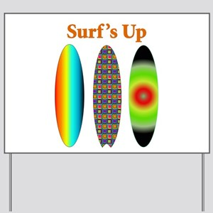 Surf's Up Yard Sign