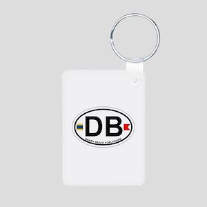 Dewey Beach DE - Oval Design Aluminum Photo Keycha