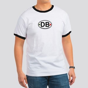 Dewey Beach DE - Oval Design Ringer T