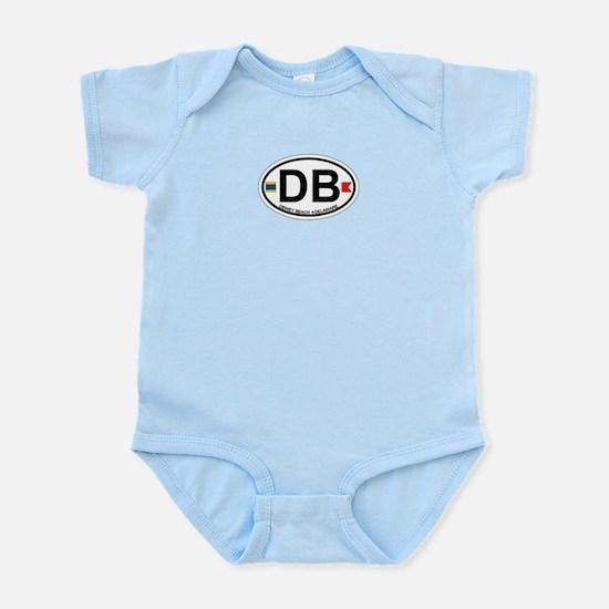 Dewey Beach DE - Oval Design Infant Bodysuit