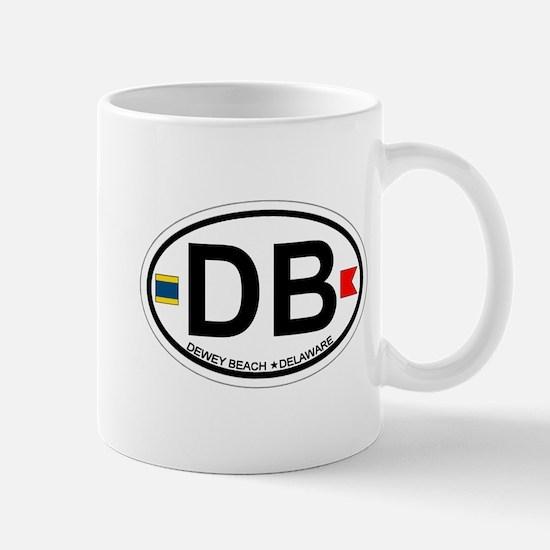 Dewey Beach DE - Oval Design Mug