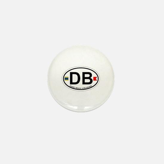 Dewey Beach DE - Oval Design Mini Button