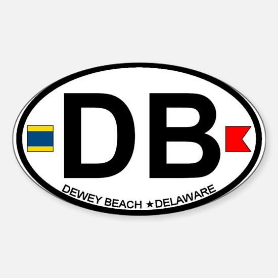 Dewey Beach DE - Oval Design Sticker (Oval)