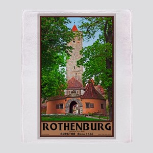 Rothenburg Burgtor Throw Blanket
