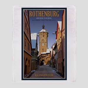 Rothenburg Klingentor W Throw Blanket