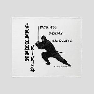 """Grammar Ninja"" Throw Blanket"