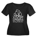 A.D.O.P.T. Women's + Size Scoop Neck Dark T-Shirt