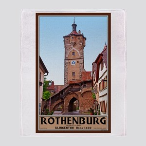 Rothenburg Klingentor Throw Blanket