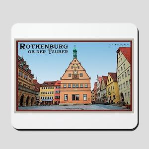 Rothenburg Marktplatz Mousepad