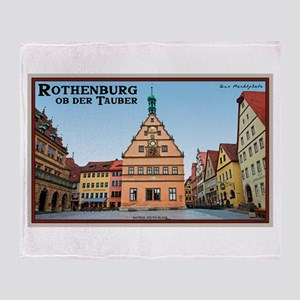 Rothenburg Marktplatz Throw Blanket