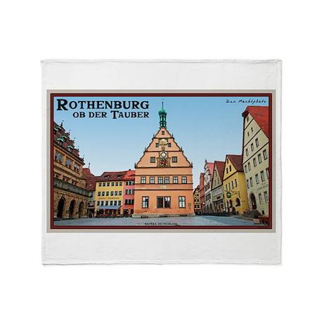 Rothenburg Marktplatz Throw Blanket