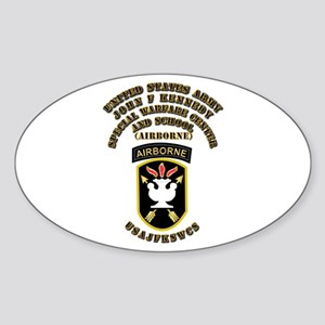 SOF - USAJFKSWCS SSI with Text Sticker (Oval)