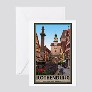 Rothenburg Markusturm Greeting Card