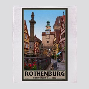 Rothenburg Markusturm Throw Blanket