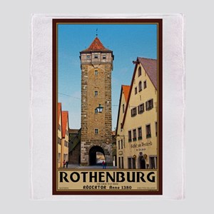 Rothenburg Rödertor Throw Blanket