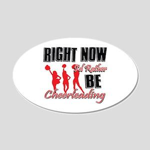 Cheerleading Gift Designs 22x14 Oval Wall Peel