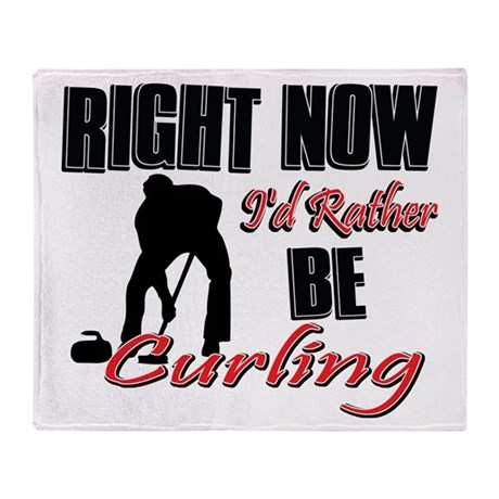 Curling Gift Designs Throw Blanket