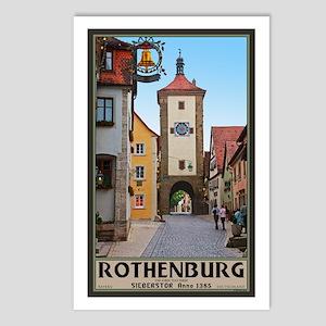 Rothenburg Sieberstor Postcards (Package of 8)