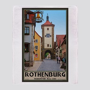 Rothenburg Sieberstor Throw Blanket