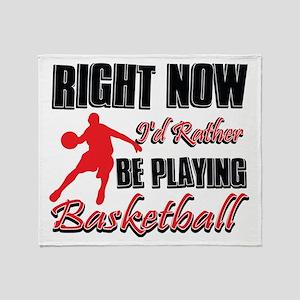 Basketball Gift Designs Throw Blanket