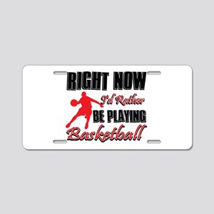 Basketball Gift Designs Aluminum License Plate