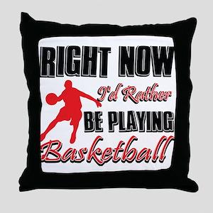 Basketball Gift Designs Throw Pillow