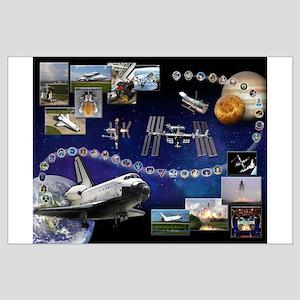 Atlantis Space Shuttle Tribute Large Poster