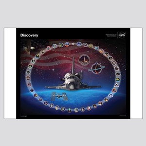 Discovery Space Shuttle Tribute Large Poster