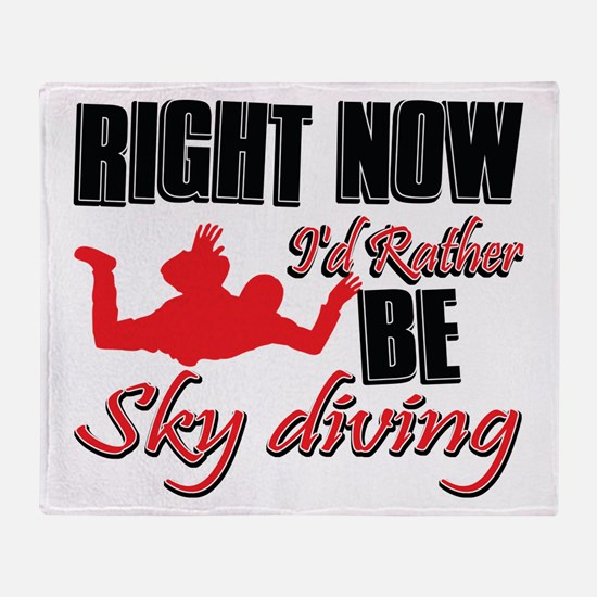 Sky diving Gift Designs Throw Blanket