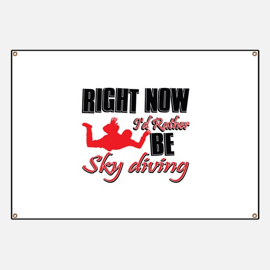 Sky diving Gift Designs Banner