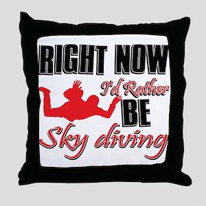 Sky diving Gift Designs Throw Pillow