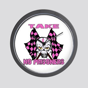 Take No Prisoners Breast Canc Wall Clock