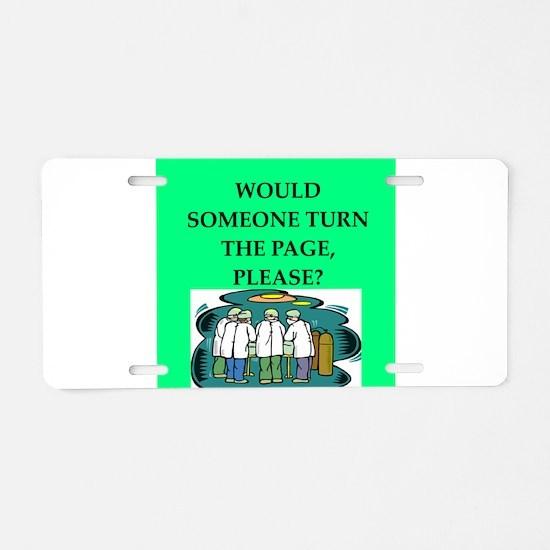 funny surgeon jokes Aluminum License Plate